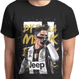 Paulo Dybala Mask Custom Printed T-Shirt - ANBRO2 Kuwait Saudi Arabia Qatar Bahrain United Arab Emirates Oman Print Design fashion men women