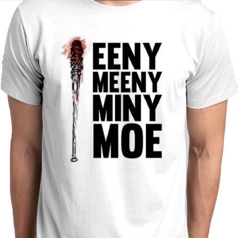 Eeny Meeny Miny Moe Lucille Negan Walking Dead T-Shirt custom printed tshirt and hoodies anbro2 kuwait dtg quality best Saudi Arabia Qatar Bahrain Oman United Arab Emirates Design Print Digital t shirt hoodies  Saudi Arabia Qatar Bahrain United Arab Emirates Oman