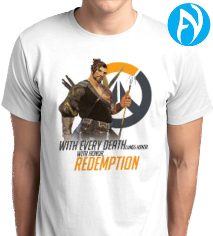 Overwatch Hanzo With Honor Redemption T-Shirt