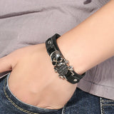 Harley Davidson Logo Men Wristband Leather Bracelet - ANBRO2 Kuwait