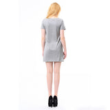 Women T-Shirt Dress w/Zipper