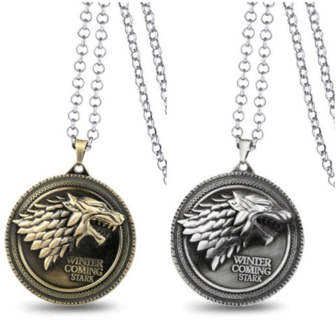 Game of Thrones Winter is Coming Stark Necklace