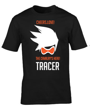Overwatch Tracer Cheers Love Gaming Custom Printed T-shirt Apparel Clothing Men Women Fashion Kuwait Saudi Arabia Bahrain Qatar UAE