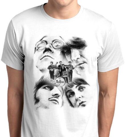 The Beatles Custom Printed T-Shirts Men Fashion Apparel Clothing Music Pop Rock printed at ANBRO2 Kuwait