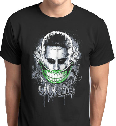The Joker Suicide Squad Batman Custom Printed T-Shirt - ANBRO2 Kuwait Saudi Arabia Qatar United Arab Emirates Bahrain Oman Fashion Men Women print Suicide Squad movie