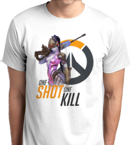 Overwatch Widowmaker One Shot One Kill T-Shirt fashion men women tshirt custom printed ANBRO2 Kuwait