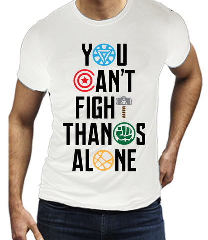 You can't Fight Thanos Alone (White) T-Shirt