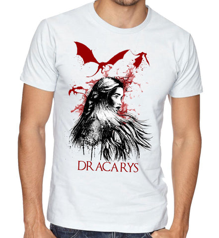 dracarys game of thrones GOT dragon fasion men women custom printed tshirt t-shirt kuwait united arab emirates apparel clothing
