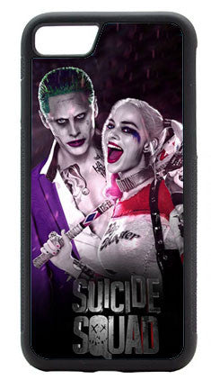 The Joker and Harley Quinn Suicide Squad Custom Printed Plastic w/ Rubber Edges  Mobile Cover for iPhone and Samsung