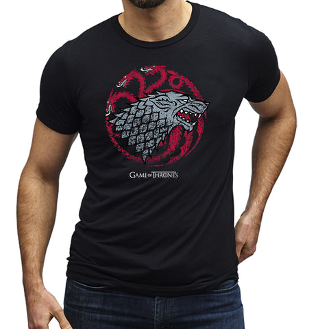 Game of Thrones Stark and Targaryen T-Shirt