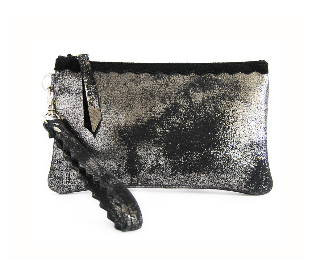 Allie Wallet Black Platinum - Wristlet - Lara B. Designs, Inc.