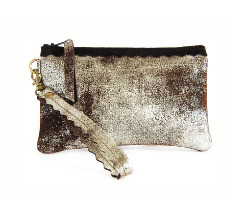 Allie Wallet Brown Platinum - Wristlet - Lara B. Designs, Inc.