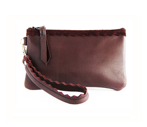 Allie Wallet Oxblood - Lara B. Designs, Inc.