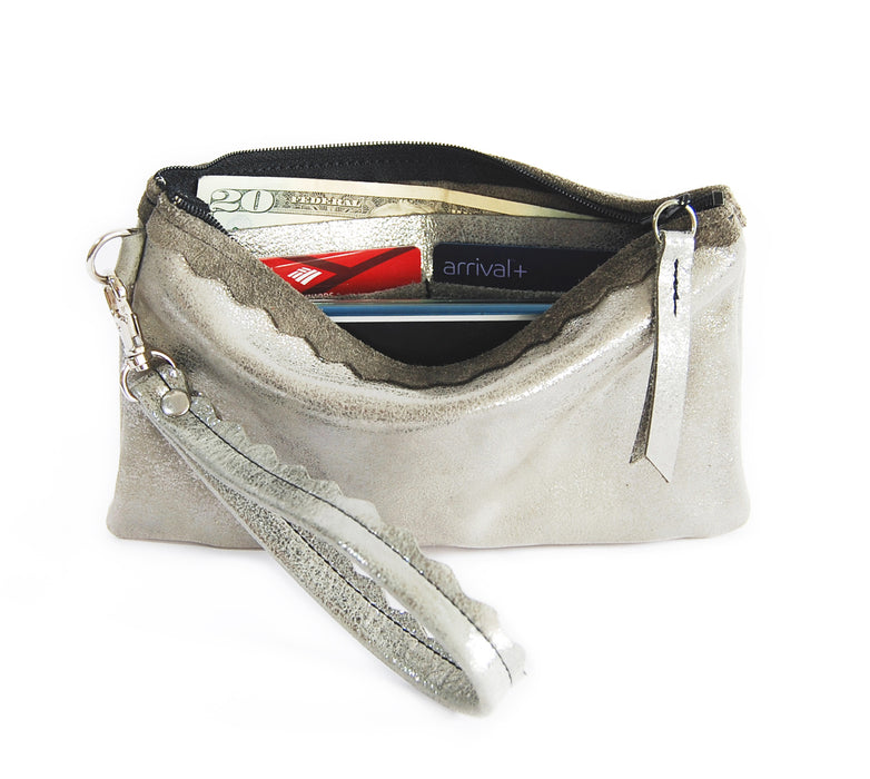 Allie Wallet Silver Platinum - Wristlet - Lara B. Designs, Inc.