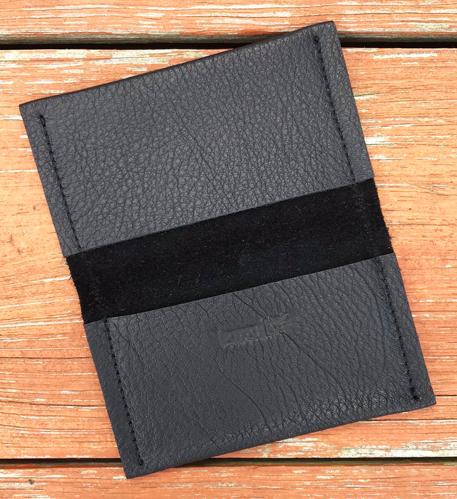Amy Card Case / Wallet Black Matte - Card Case - Lara B. Designs, Inc.