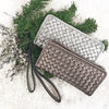 Avery Silver Metallic - Wristlet - Lara B. Designs, Inc.
