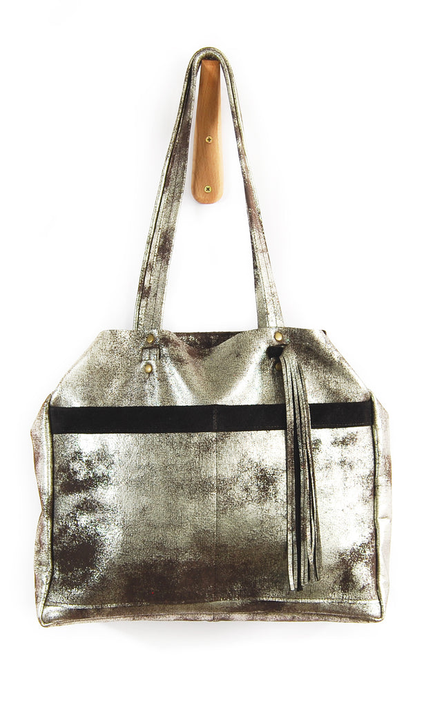 Bella Nouveau Brown Platinum - Tote Bag - Lara B. Designs, Inc.