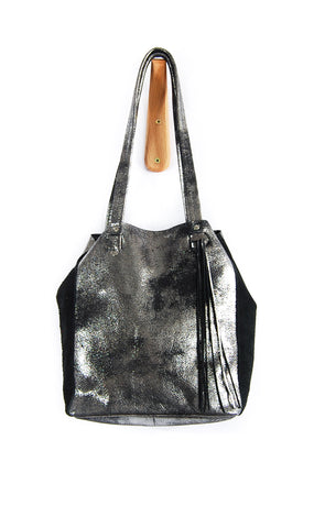 Scout Tote Black Platinum - Tote Bag - Lara B. Designs, Inc.