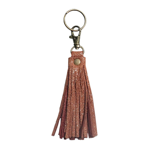 Fringe Tassel Key Chain Brandy Sparkle - Key Chains - Lara B. Designs, Inc.