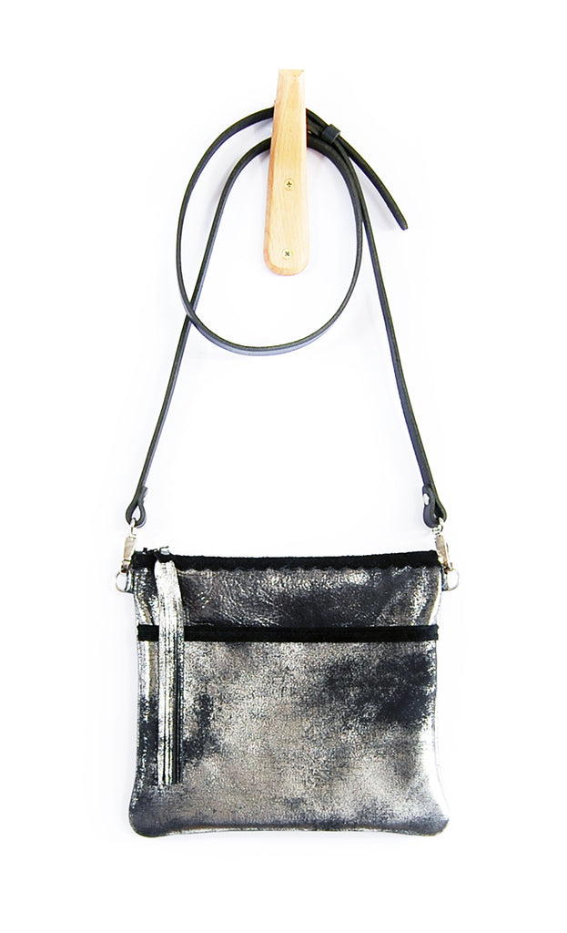 Buca Pocket Black Platinum - Crossbody - Lara B. Designs, Inc.