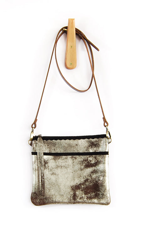 Buca Pocket Brown Platinum - Crossbody - Lara B. Designs, Inc.