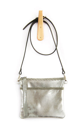Buca Pocket Silver Platinum - Crossbody - Lara B. Designs, Inc.