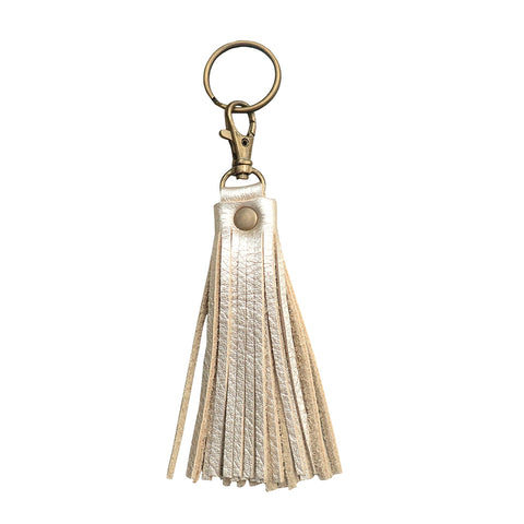 Fringe Tassel Key Chain Champagne - Key Chains - Lara B. Designs, Inc.