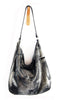 Febe Hobo Black Platinum - Tote Bag - Lara B. Designs, Inc.
