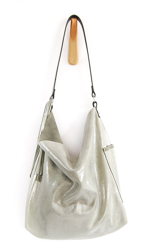 Febe Hobo Silver Platinum - Tote Bag - Lara B. Designs, Inc.