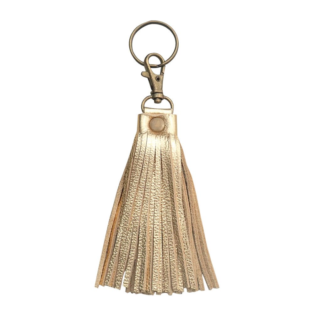 Fringe Tassel Key Chain Gold - Key Chains - Lara B. Designs, Inc.