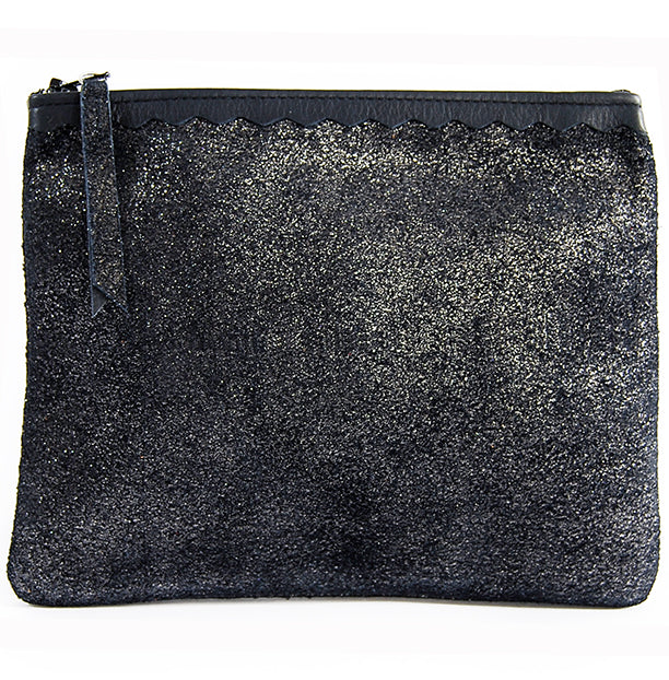 Izzy Pouch Midnight Navy Sparkle - Pouch - Lara B. Designs, Inc.