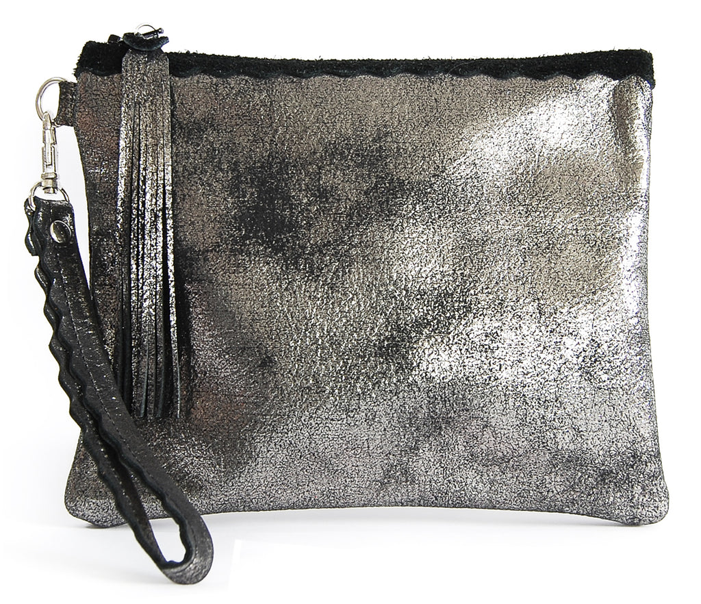 Izzy Black Platinum - Wristlet - Lara B. Designs, Inc.