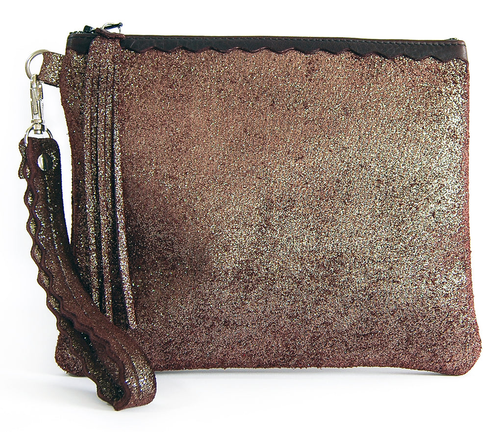 Izzy Oxblood Sparkle - Wristlet - Lara B. Designs, Inc.