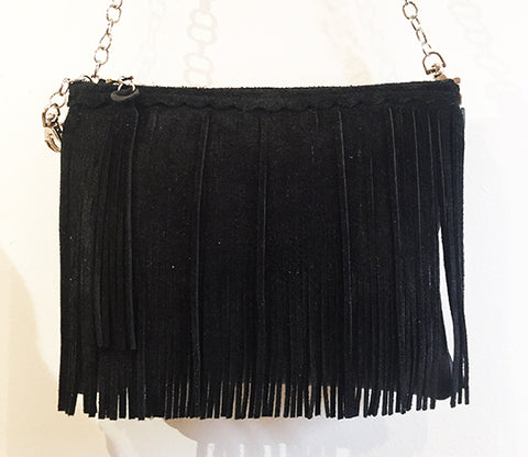 Maya Fringe Crossbody Black Matte - Crossbody - Lara B Designs - Lara B. Designs, Inc. - Lara B. Designs, Inc.