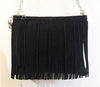 Maya Fringe Crossbody Black Matte - Crossbody - Lara B. Designs, Inc.