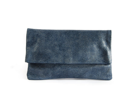 Alexa Ocean Crackle - Fold Over Clutch - Lara B. Designs, Inc.