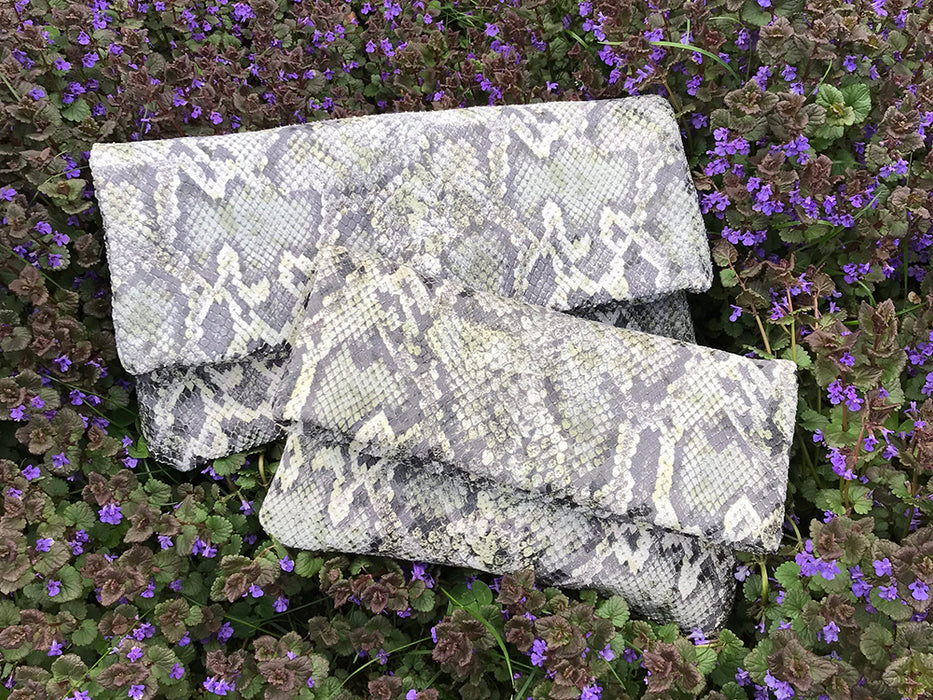 Alexa Olive Snake - Fold Over Clutch - Lara B. Designs, Inc.