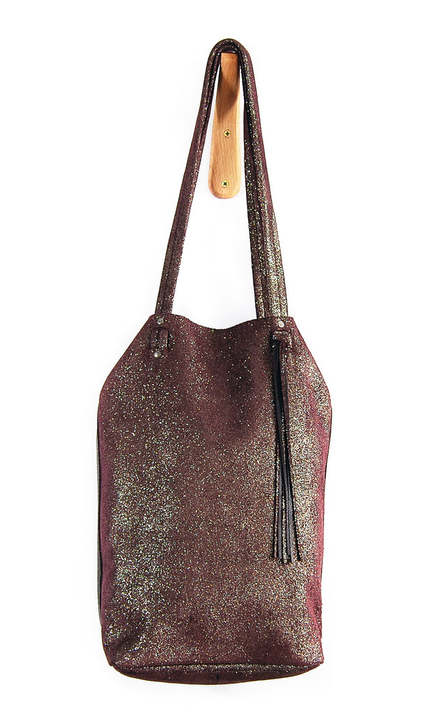 Scarlett Oxblood Sparkle - Tote Bag - Lara B. Designs, Inc.
