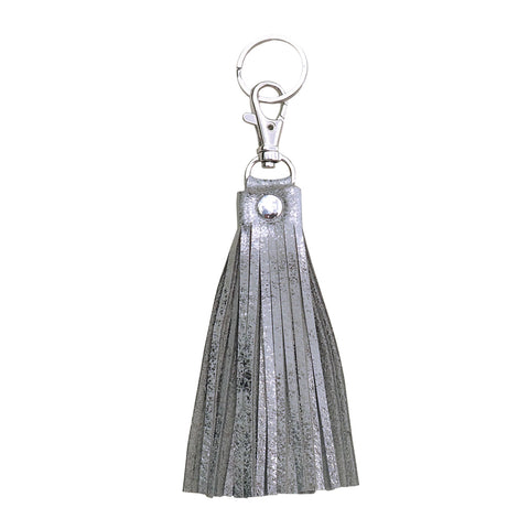 Fringe Tassel Key Chain Silver Platinum - Key Chains - Lara B. Designs, Inc.