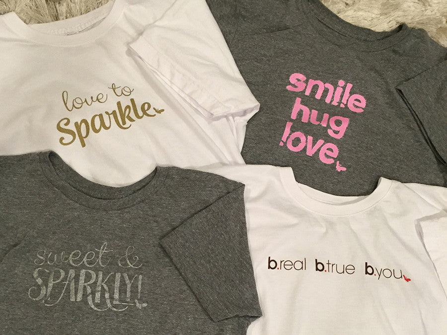 Smile, Hug, Love Tee - Statement Tee - Lara B. Designs, Inc.