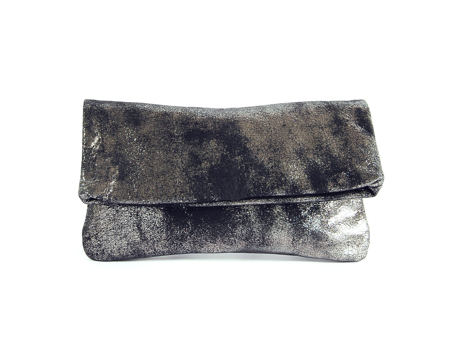 Alexa Black Platinum Clutch - Lara B. Designs, Inc.
