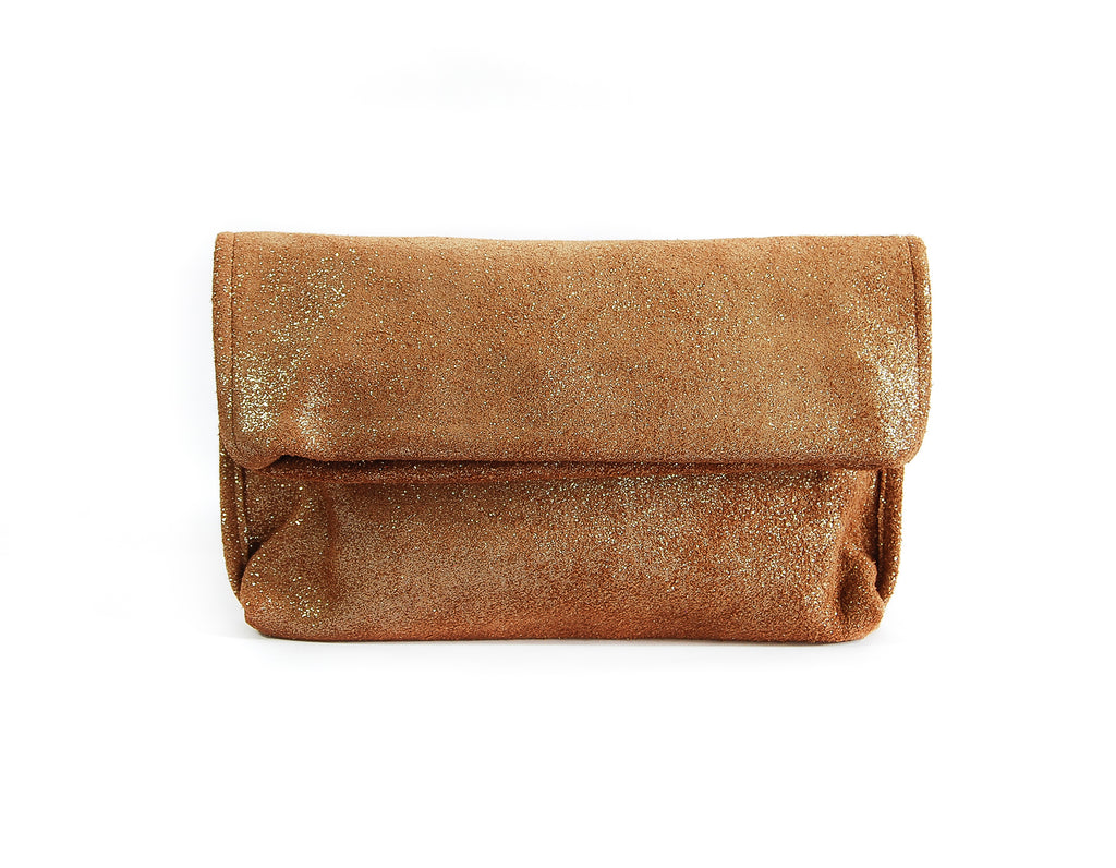 Alexa Brandy Sparkle - Fold Over Clutch - Lara B. Designs, Inc.