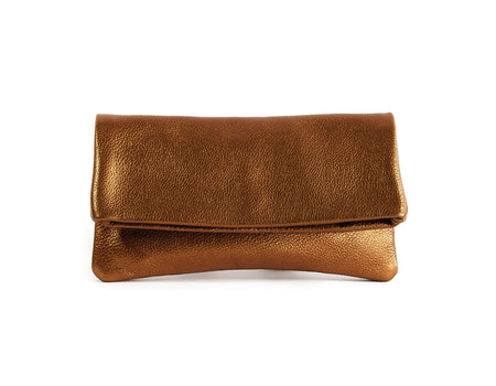 Alexa Bronze Pearl - Fold Over Clutch - Lara B. Designs, Inc.