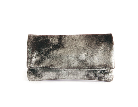 Alexa Brown Platinum - Fold Over Clutch - Lara B. Designs, Inc.