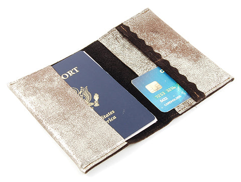 Passport Cover Brown Platinum -  - Lara B. Designs, Inc.