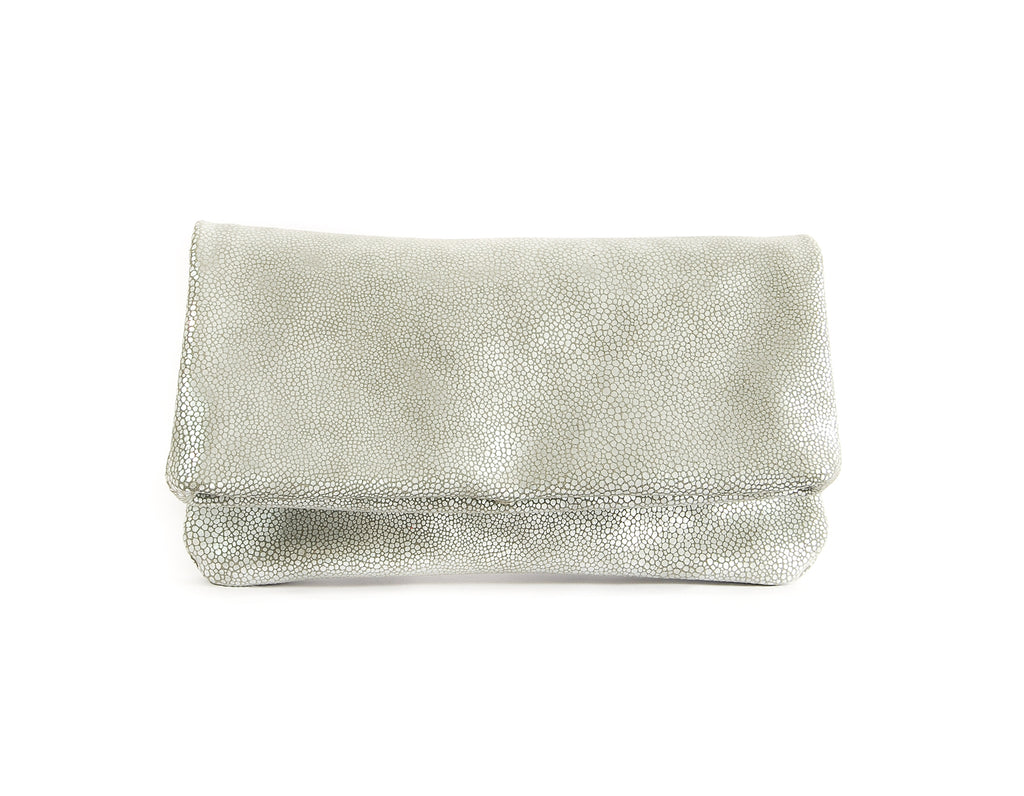 Alexa Silver Pebble - Fold Over Clutch - Lara B. Designs, Inc.