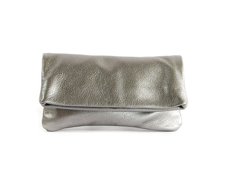 Alexa Pewter Pearl - Fold Over Clutch - Lara B. Designs, Inc.