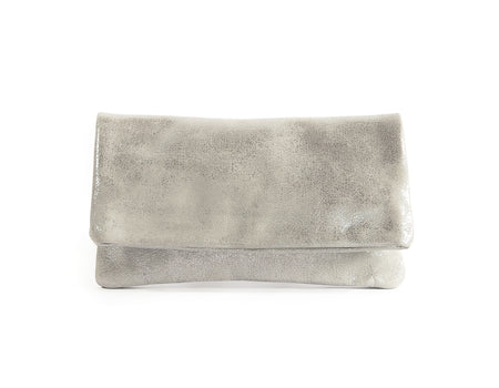 Alexa Silver Platinum - Fold Over Clutch - Lara B. Designs, Inc.