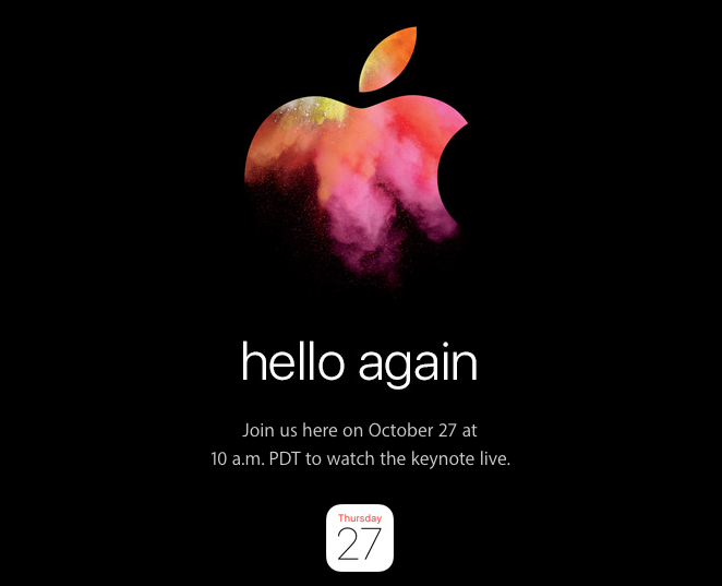 Hello again - Apple conference on October 27th
