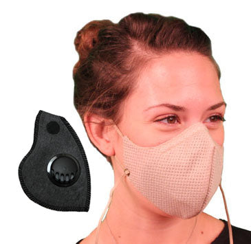 Honeycomb Pollution Mask with Coconut Sport Filter and Valves
